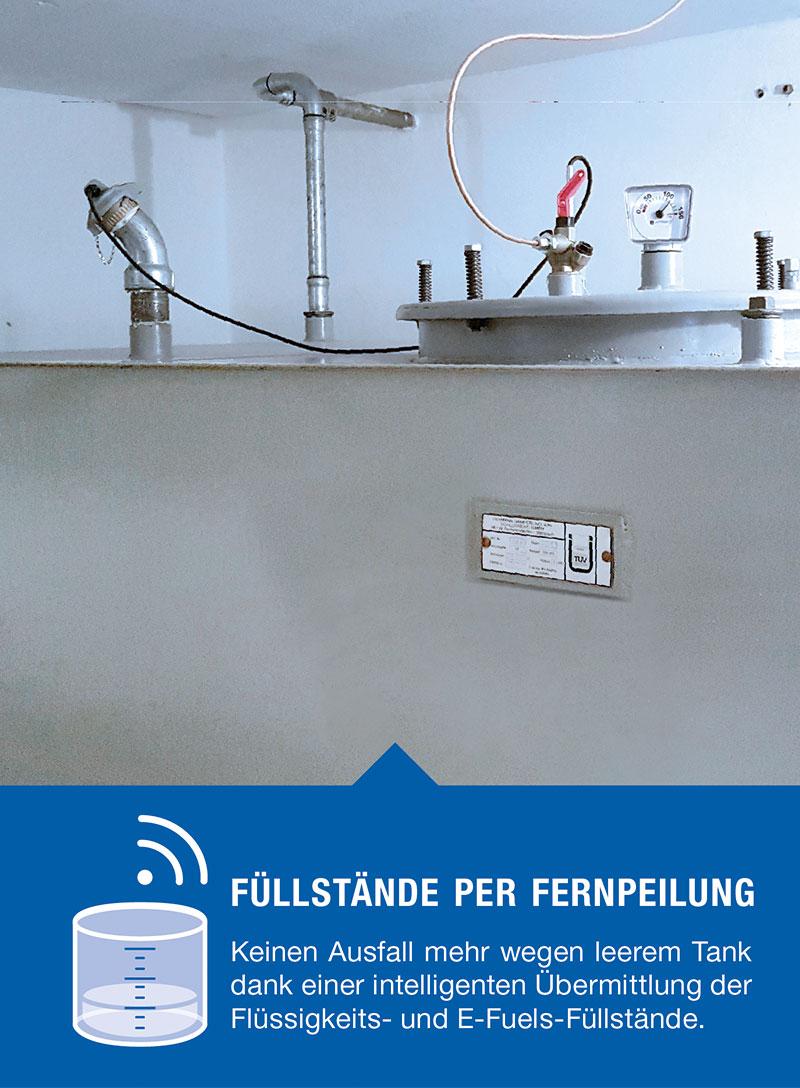 Beer Energien klimaschonende Zukunftslösungen Füllstandsmessung per Fernpeilung