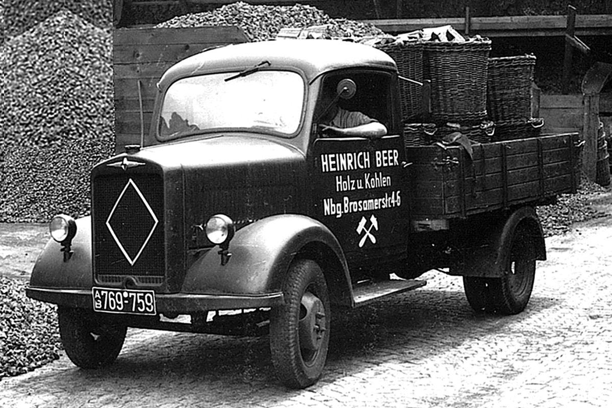 Beer-Energien Holz-und Kohletransporter 1948